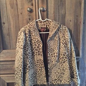 Multiples Blazer Leopard Print with long sleeves